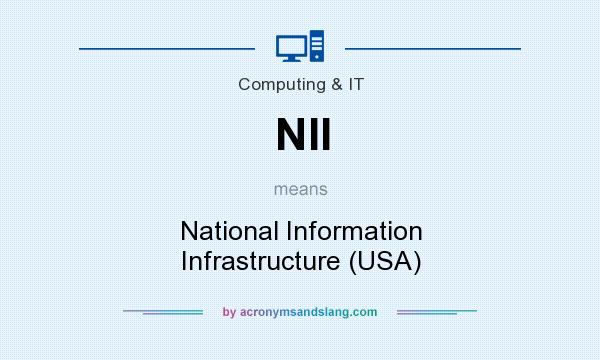 What does NII mean? It stands for National Information Infrastructure (USA)