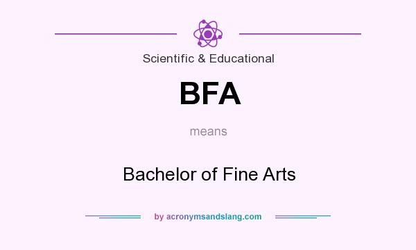 What does BFA mean? It stands for Bachelor of Fine Arts