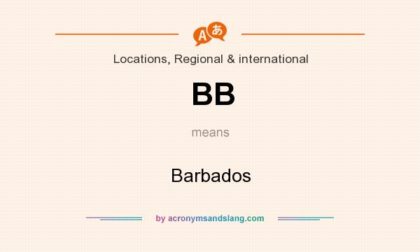 What does BB mean? It stands for Barbados