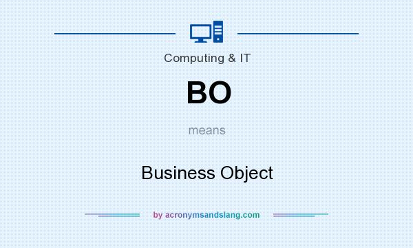 What does BO mean? It stands for Business Object