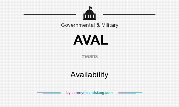 What does AVAL mean? It stands for Availability