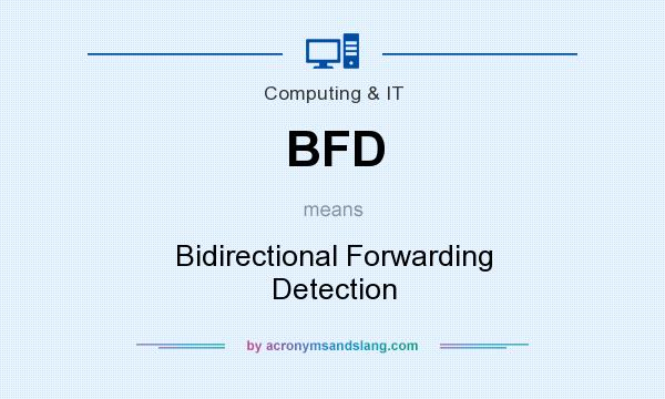 What does BFD mean? It stands for Bidirectional Forwarding Detection