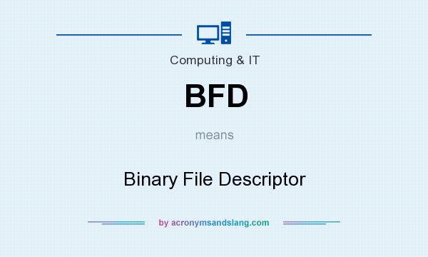 What does BFD mean? It stands for Binary File Descriptor