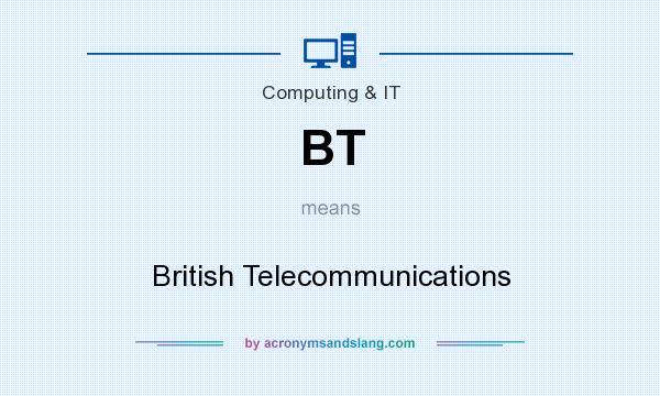 What does BT mean? It stands for British Telecommunications