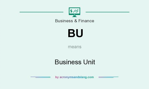 What does BU mean? It stands for Business Unit