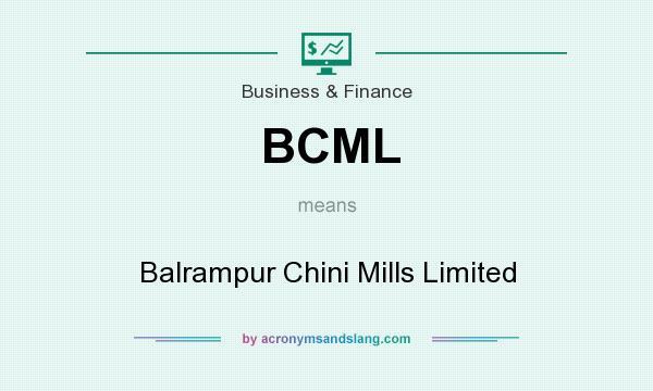 BCML - Balrampur Chini Mills L...