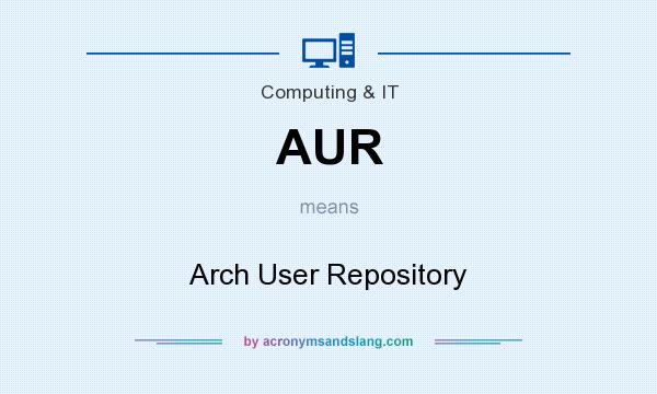 What does AUR mean? It stands for Arch User Repository