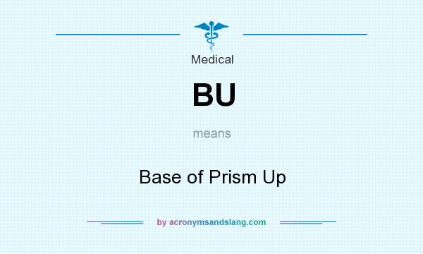 What does BU mean? It stands for Base of Prism Up
