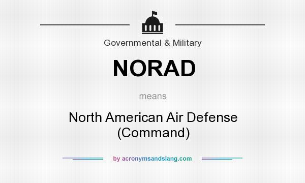 What does NORAD mean? It stands for North American Air Defense (Command)