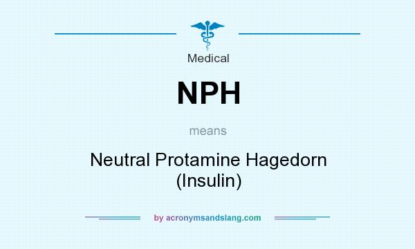 What does NPH mean? It stands for Neutral Protamine Hagedorn (Insulin)