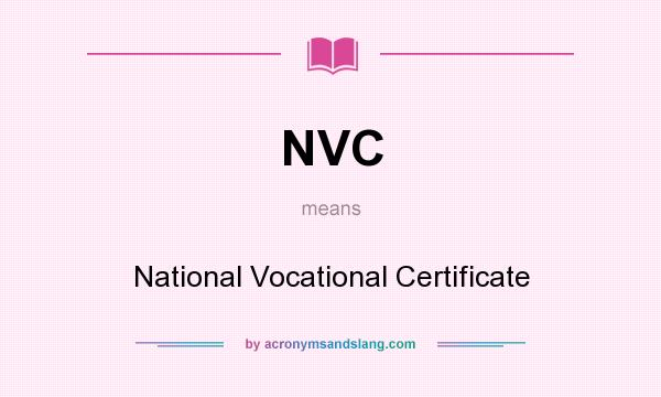 NVC - National Vocational Certificate in Undefined by ...