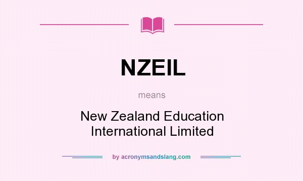 What does NZEIL mean? It stands for New Zealand Education International Limited