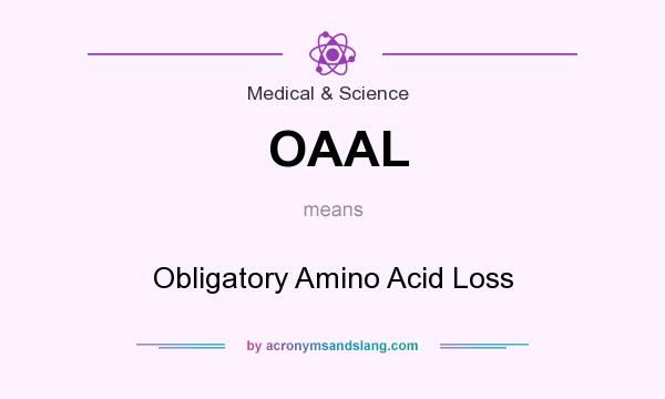 What does OAAL mean? It stands for Obligatory Amino Acid Loss