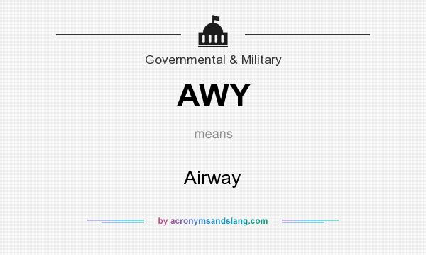 What does AWY mean? It stands for Airway