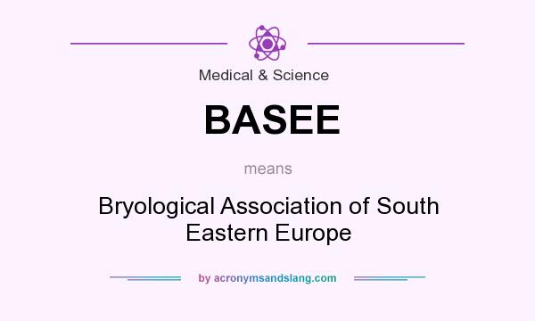 What does BASEE mean? It stands for Bryological Association of South Eastern Europe