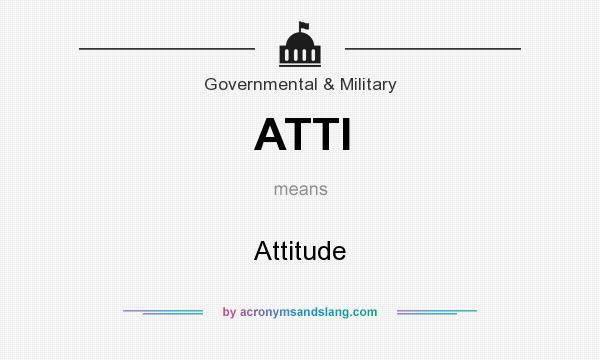 What does ATTI mean? It stands for Attitude
