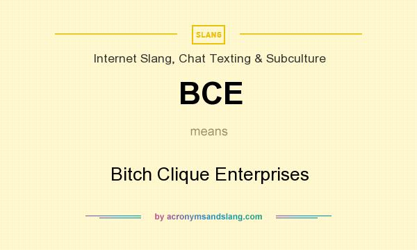 What does bce mean in hookup
