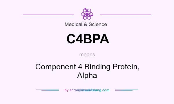 What does C4BPA mean? It stands for Component 4 Binding Protein, Alpha
