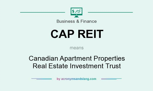 What does CAP REIT mean? It stands for Canadian Apartment Properties Real Estate Investment Trust