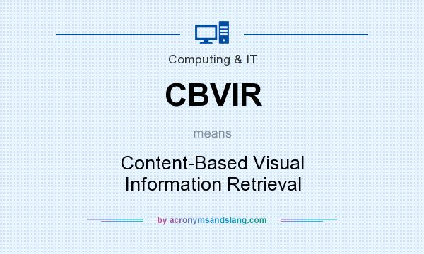 What does CBVIR mean? It stands for Content-Based Visual Information Retrieval