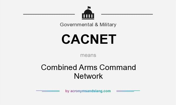 What does CACNET mean? It stands for Combined Arms Command Network