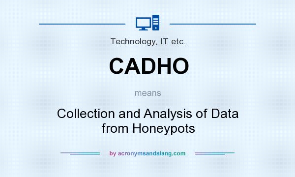 What does CADHO mean? It stands for Collection and Analysis of Data from Honeypots