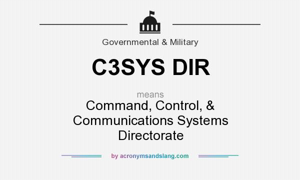 What does C3SYS DIR mean? It stands for Command, Control, & Communications Systems Directorate