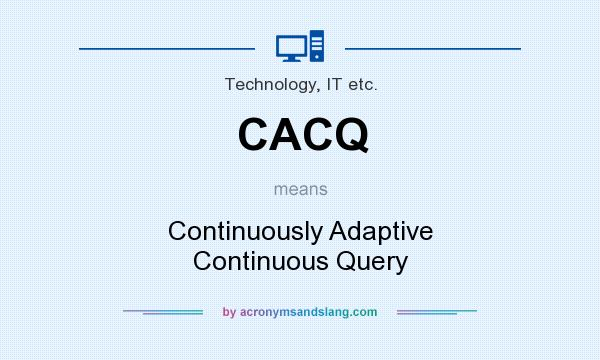 What does CACQ mean? It stands for Continuously Adaptive Continuous Query