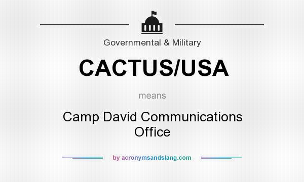 What does CACTUS/USA mean? It stands for Camp David Communications Office