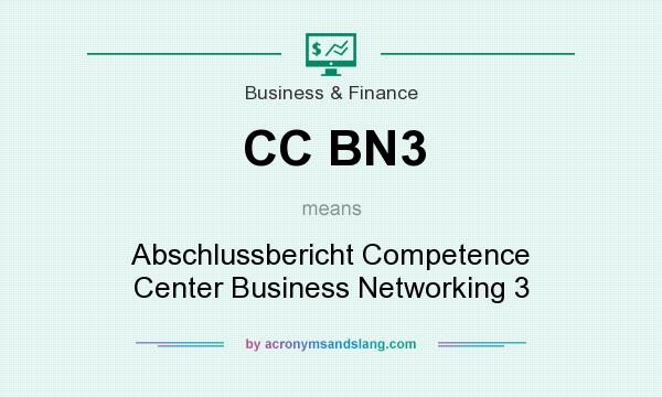 What does CC BN3 mean? It stands for Abschlussbericht Competence Center Business Networking 3
