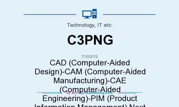What does C3PNG mean? It stands for CAD (Computer-Aided Design)-CAM (Computer-Aided Manufacturing)-CAE (Computer-Aided Engineering)-PIM (Product Information Management) Next Generation