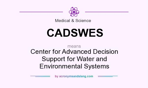 What does CADSWES mean? It stands for Center for Advanced Decision Support for Water and Environmental Systems