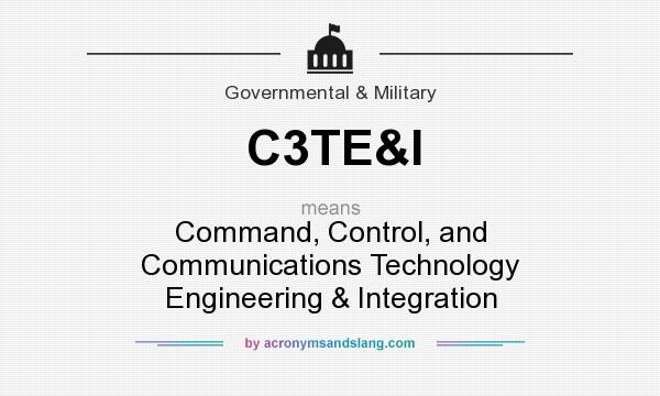 What does C3TE&I mean? It stands for Command, Control, and Communications Technology Engineering & Integration