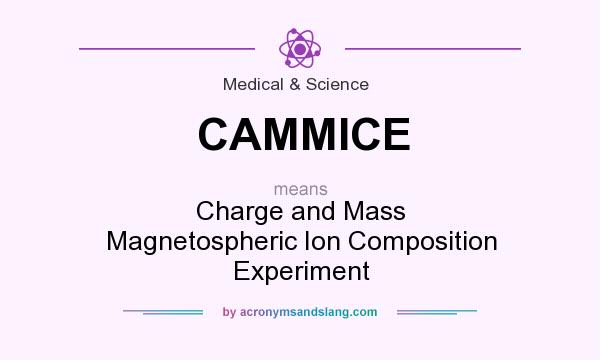 What does CAMMICE mean? It stands for Charge and Mass Magnetospheric Ion Composition Experiment