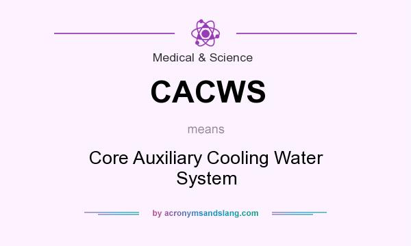 What does CACWS mean? It stands for Core Auxiliary Cooling Water System