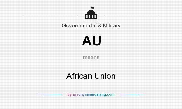 What does AU mean? It stands for African Union