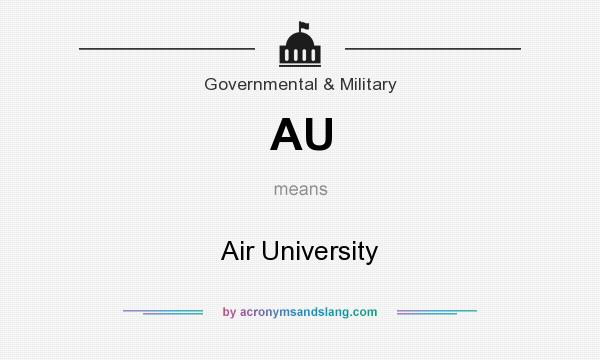 What does AU mean? It stands for Air University