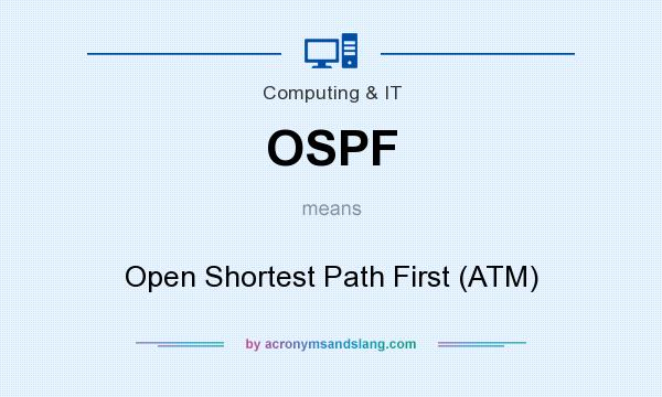 What does OSPF mean? It stands for Open Shortest Path First (ATM)