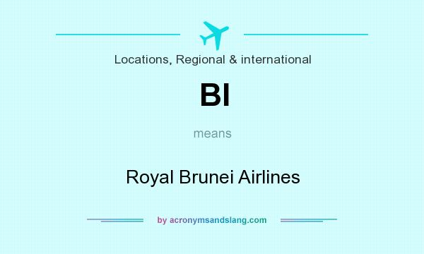 What does BI mean? It stands for Royal Brunei Airlines