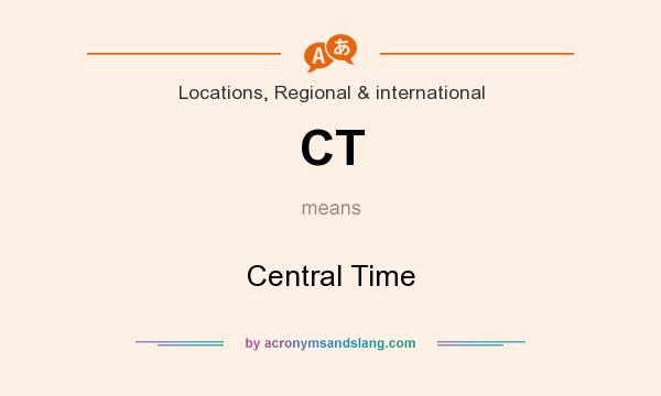 What does CT mean? It stands for Central Time