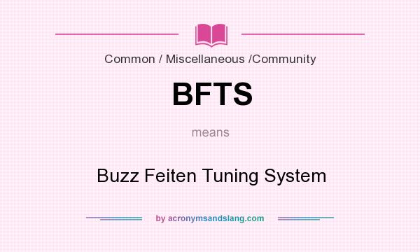 What does BFTS mean? It stands for Buzz Feiten Tuning System