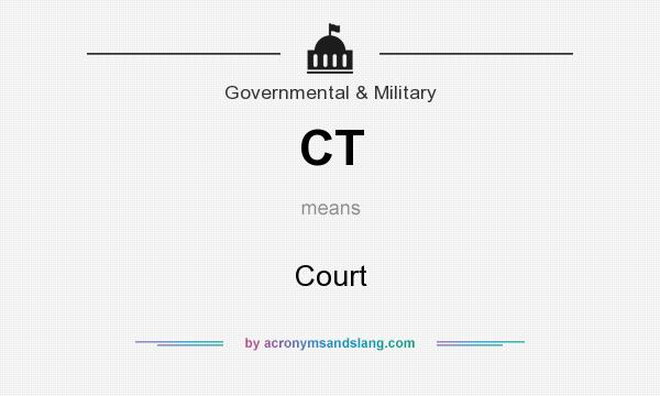 What does CT mean? It stands for Court