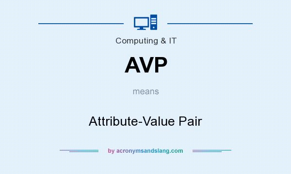 What does AVP mean? It stands for Attribute-Value Pair