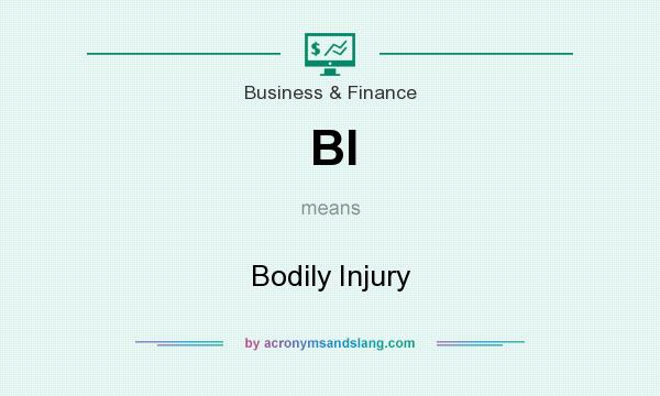 What does BI mean? It stands for Bodily Injury