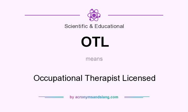 how to become a licensed occupational therapist