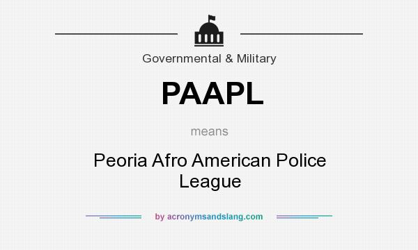 What does PAAPL mean? It stands for Peoria Afro American Police League