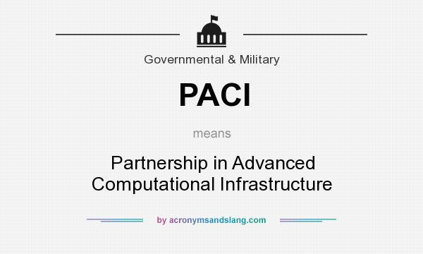 What does PACI mean? It stands for Partnership in Advanced Computational Infrastructure