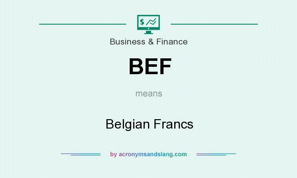 What does BEF mean? It stands for Belgian Francs