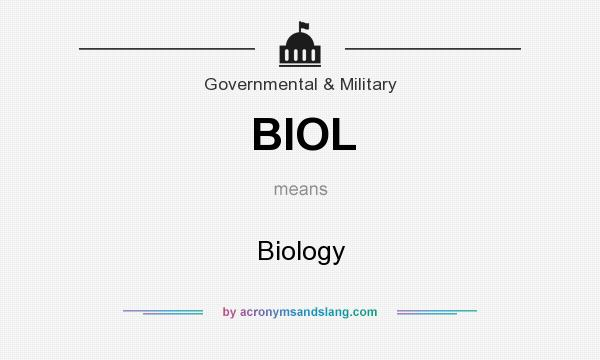 What does BIOL mean? It stands for Biology