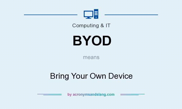 What does BYOD mean? It stands for Bring Your Own Device